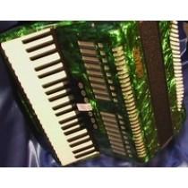 ROMANCE FISARMONICA 120 BASSI  41K 3/5 7+2+MASTER  colore Verde Smeraldo Madreperlato