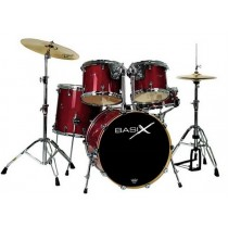 BASIX Drum Set SEI Pezzi modello CUSTOM LINE TR  Rosso Trasparente