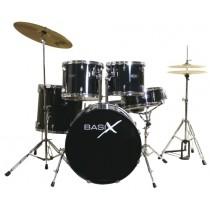 BASIX Drum Set Cinque Pezzi modello CONCEPT LINE BK  Nera